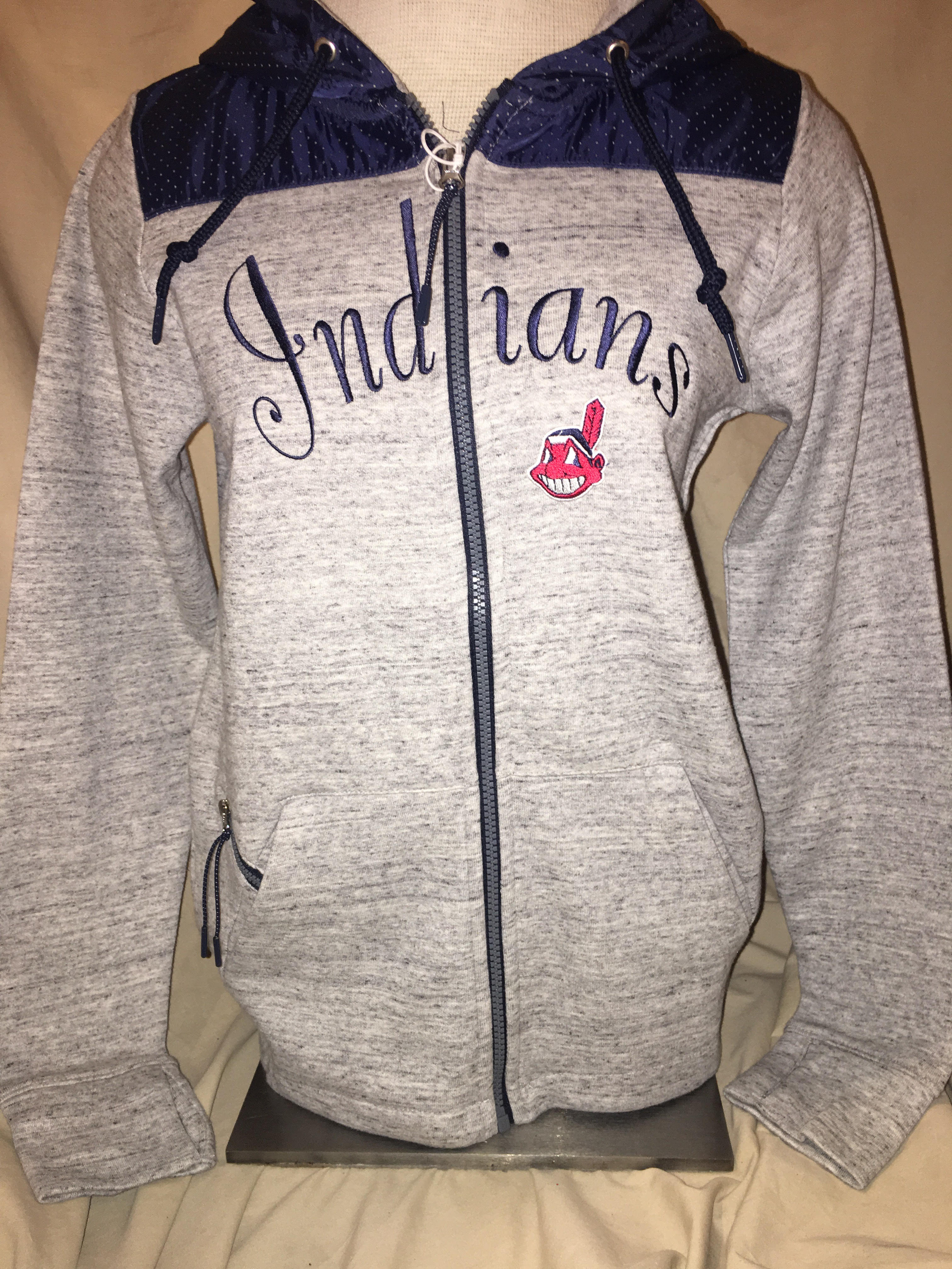 new style 8e914 76f6c Women's Cleveland Indians Antigua Exertion Zip-up Hoodie