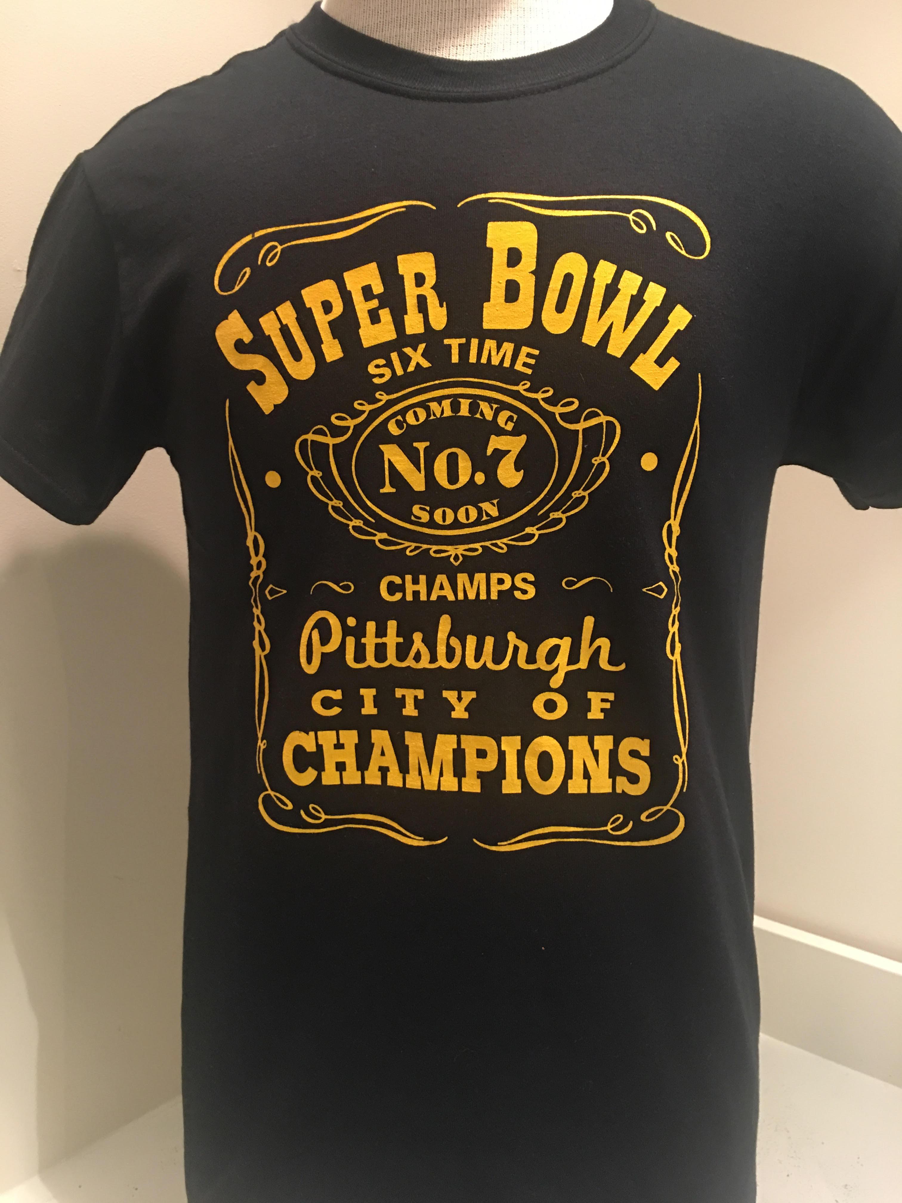 c89a65e0 Pittsburgh Steelers Men's-Black Super Bowl Champs T-Shirt